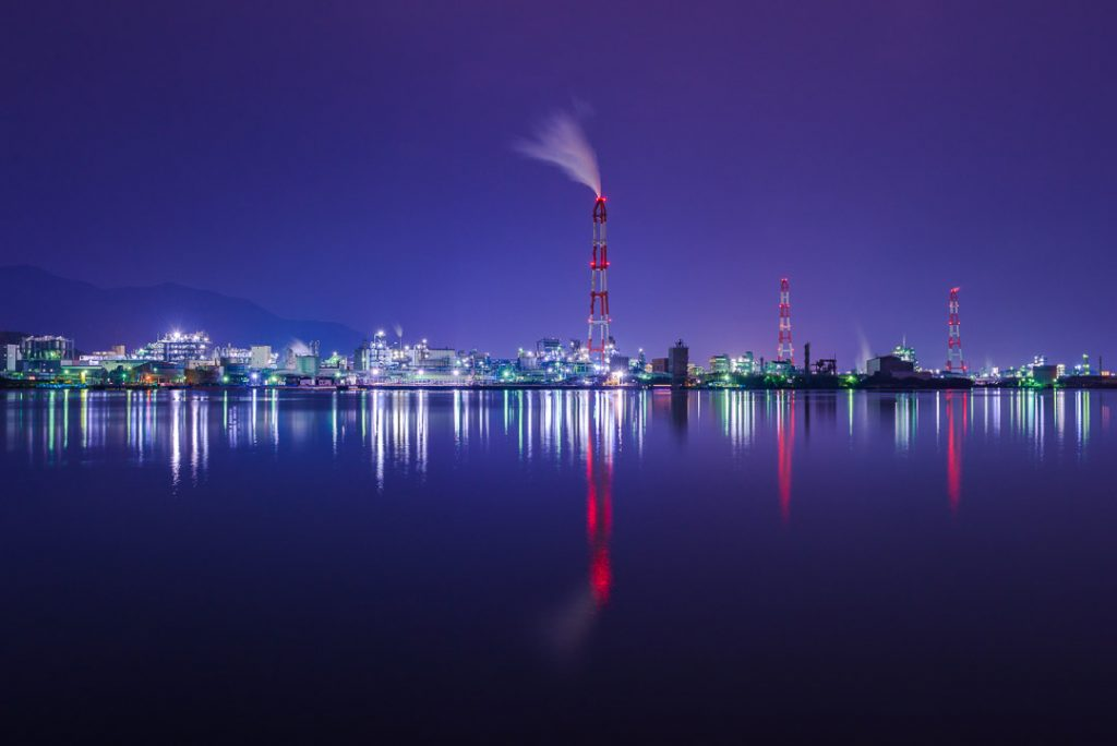 Kitakyushu is known as an industrial city and features some of Japan's best factory night views.