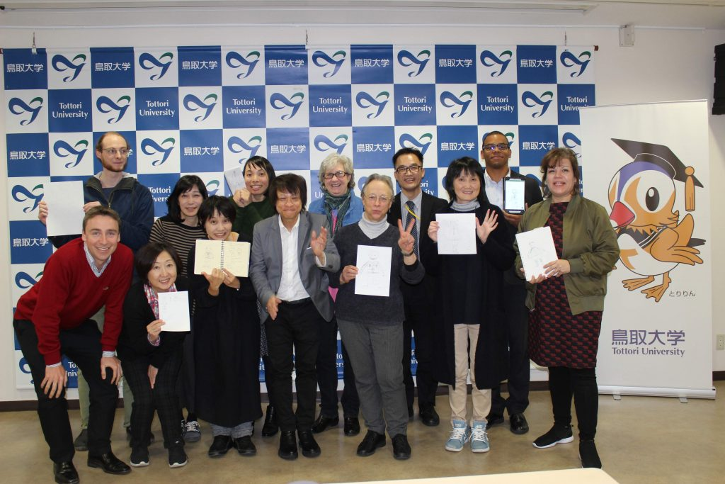 Tottori JALT Language Teaching Workshop – Christopher Hollis, far left in the red sweater, is the current president of the Tottori Chapter of JALT